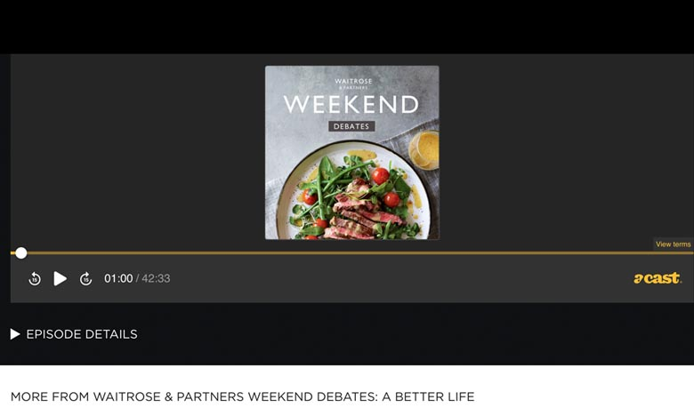 Waitrose & Partners Weekend Debates